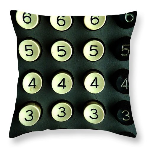 Numbers Throw Pillow featuring the photograph Numbers Game by Newel Hunter