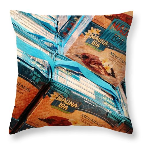 Nuts Throw Pillow featuring the photograph Nuts by Caroline Lomeli