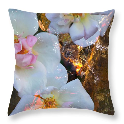 Floral Throw Pillow featuring the photograph Oasis by Elizabeth Hart