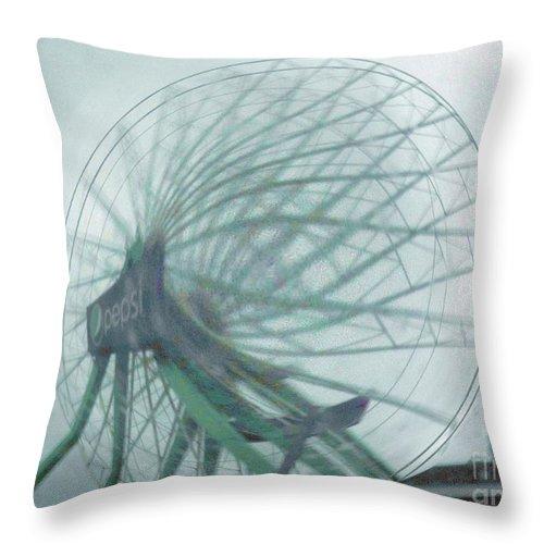 Ocean City Throw Pillow featuring the photograph Oc Ferris 04 by Rrrose Pix