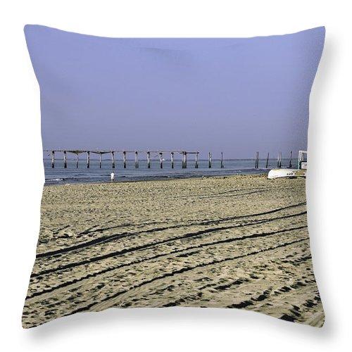 Beach Throw Pillow featuring the photograph Ocean City Nj The Old Pier by Paul Plaine
