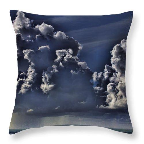 Ocean Throw Pillow featuring the photograph Ocean Rains by Douglas Barnard