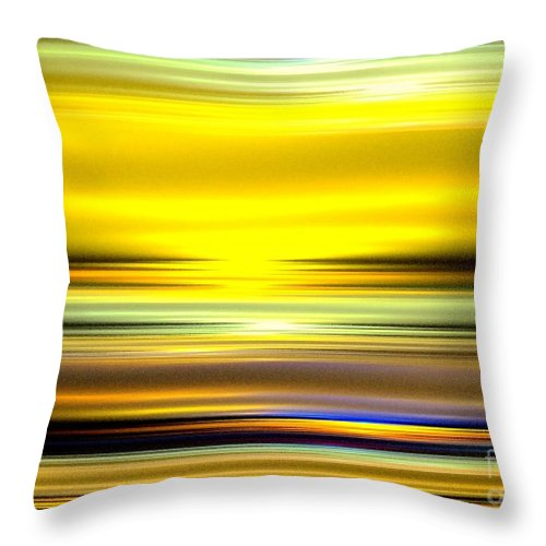 Ocean Throw Pillow featuring the digital art Ocean Sunrise by Greg Moores