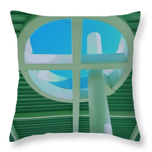 Oculus Throw Pillow featuring the photograph Oculus 1 by Randall Weidner