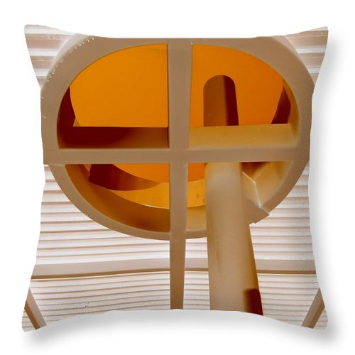 Oculus Throw Pillow featuring the photograph Oculus 2 by Randall Weidner