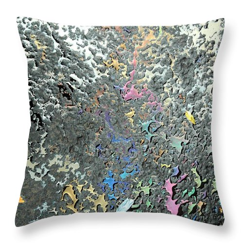 Abstract Throw Pillow featuring the photograph Oil Painting by Trish Hale