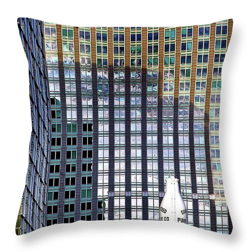 Throw Pillow featuring the photograph Old And New 2 by Burney Lieberman