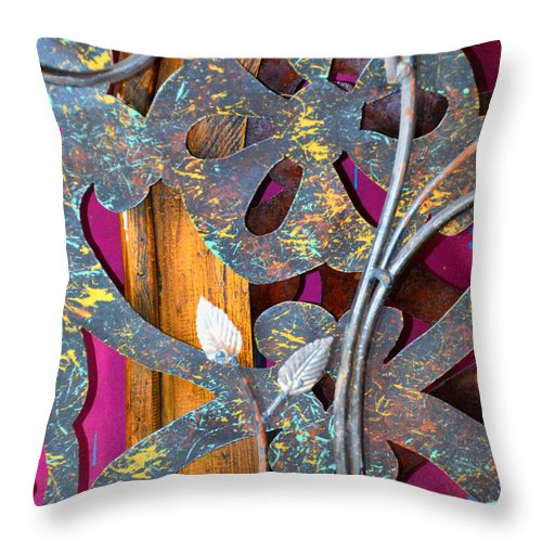 Old Throw Pillow featuring the photograph Old And Ornate by Diane Wood