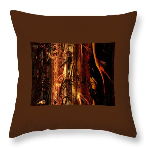 Digital Art Throw Pillow featuring the digital art Old Bark by Amanda Moore
