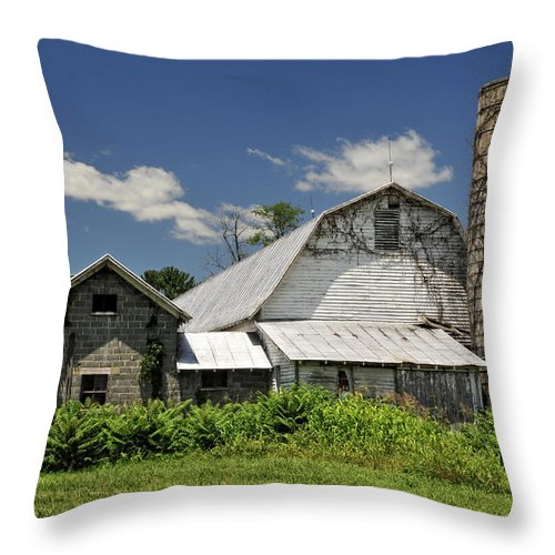 Dairy Throw Pillow featuring the photograph Old Dairy Barn 2 by Lara Ellis