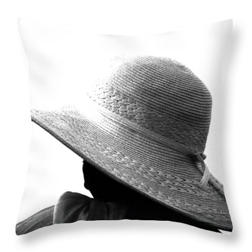 Black And White Throw Pillow featuring the photograph Old Lady Shady Two by The Artist Project