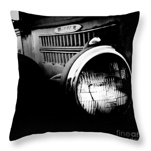 Old Car Throw Pillow featuring the photograph Old Mack by Kevyn Bashore
