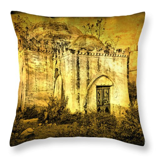Masjid Throw Pillow featuring the photograph Old Masjid by Charuhas Images
