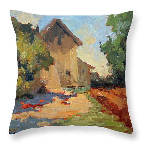 Old Mill Throw Pillow featuring the painting Old Mill Provence by Diane McClary