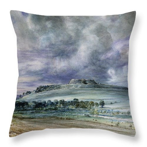 Old Sarum Throw Pillow featuring the painting Old Sarum by John Constable