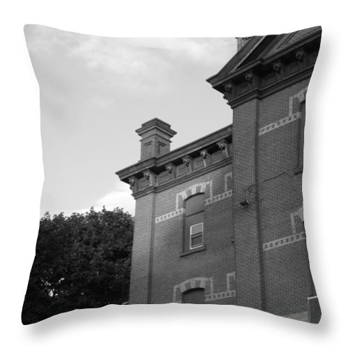 Old School House Throw Pillow featuring the photograph Old School House by Michele Nelson