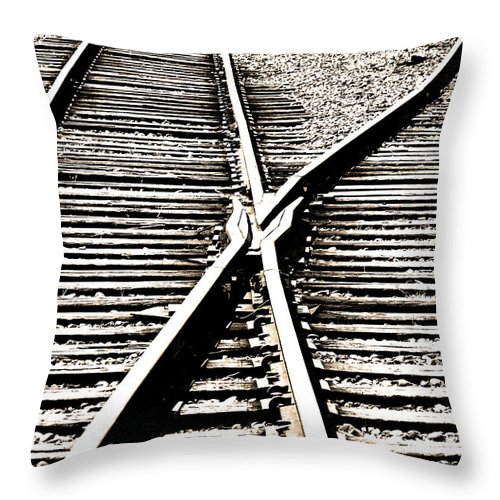 Black And White Throw Pillow featuring the photograph Old Siding by Mick Anderson
