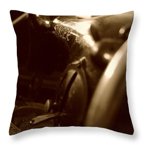 Old Singer Throw Pillow featuring the photograph Old Singer by Alessandro Della Pietra