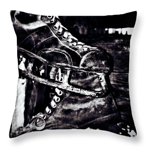 Lake Throw Pillow featuring the photograph Old Skate by The Artist Project
