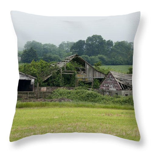 Barn Throw Pillow featuring the photograph Old Smith River Dairy by Betty Depee