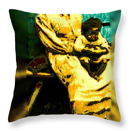 Old South Madonna Throw Pillow featuring the photograph Old South Madonna by Seth Weaver