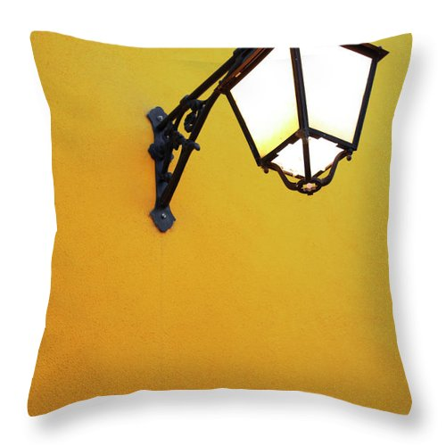Background Throw Pillow featuring the photograph Old Street Lamp by Carlos Caetano