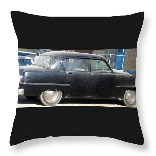 Car Throw Pillow featuring the photograph Old Timer by Amy Hosp