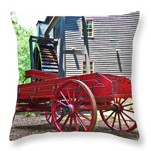 Paint Throw Pillow featuring the photograph Old Times by Betsy Knapp