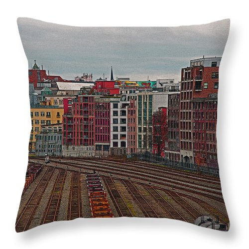Vancouver Throw Pillow featuring the photograph Old Town Vancouver by Randy Harris