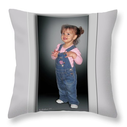 2d Throw Pillow featuring the photograph Olivia by Brian Wallace