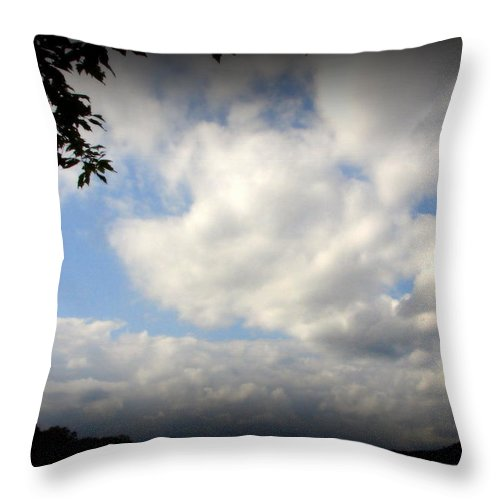 Clouds Throw Pillow featuring the photograph Ominous by Priscilla Richardson