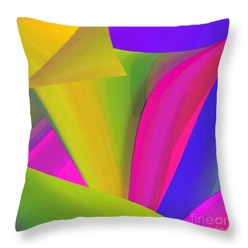 Abstract Throw Pillow featuring the digital art Omnifarious by ME Kozdron
