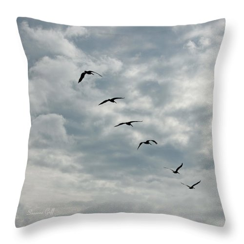 Throw Pillow featuring the photograph On A Mission Squared by Suzanne Gaff