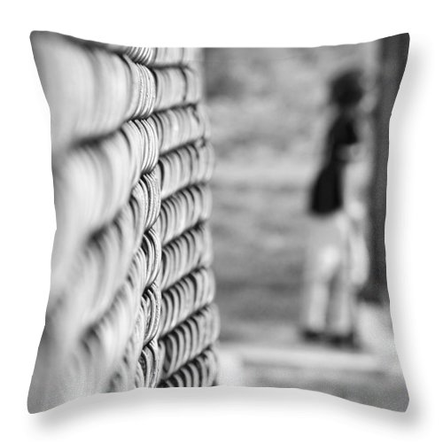 Baseball Throw Pillow featuring the photograph On Deck by Mary Zeman