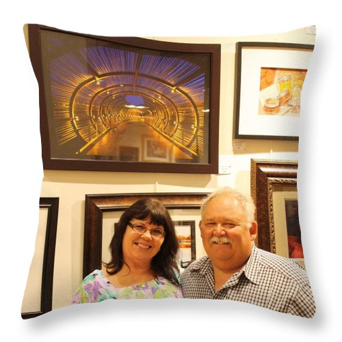 Throw Pillow featuring the photograph On Display by Tommy Anderson