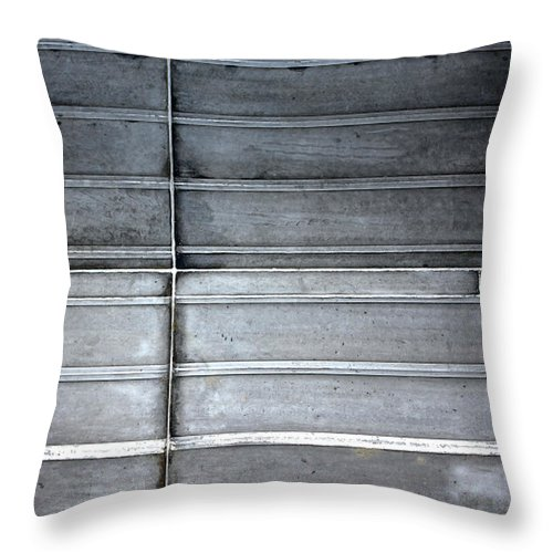 Metal Throw Pillow featuring the photograph On Impact by Stephen Mitchell