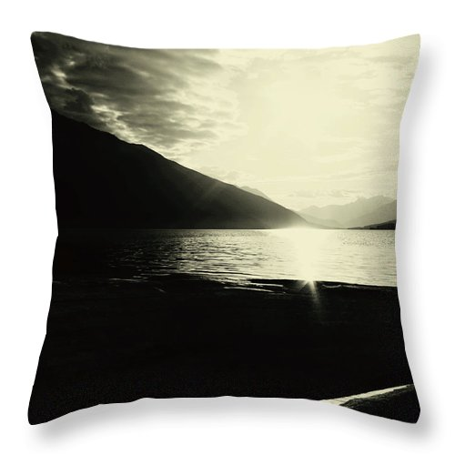 Lake Throw Pillow featuring the photograph On The Edge Of Drift by The Artist Project