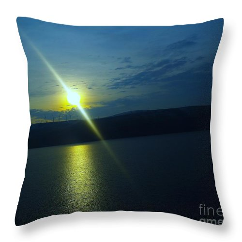 Sun Throw Pillow featuring the photograph On The River Of Dreams by Jeff Swan