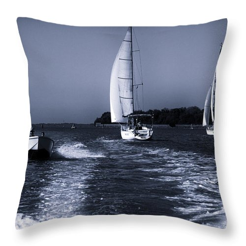 Venice Throw Pillow featuring the photograph On The Water 1 - Venice by Madeline Ellis