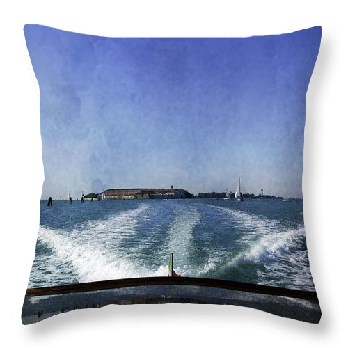 Venice Throw Pillow featuring the photograph On The Water 5 - Venice by Madeline Ellis