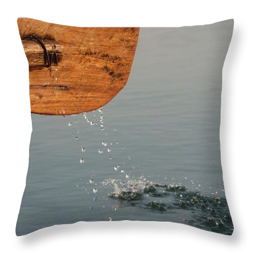 Boat Throw Pillow featuring the photograph On The Way by Fotosas Photography