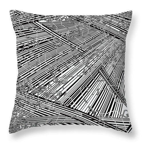 Meditation Labyrinth Throw Pillow featuring the painting One 20 by Douglas Christian Larsen