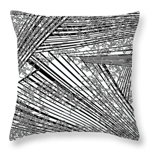Meditation Labyrinth Throw Pillow featuring the painting One 21 by Douglas Christian Larsen