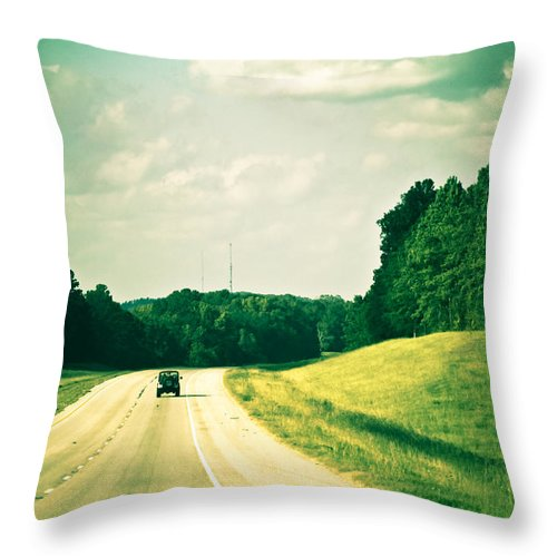 Highways Throw Pillow featuring the photograph One Texas Afternoon by Kim Henderson