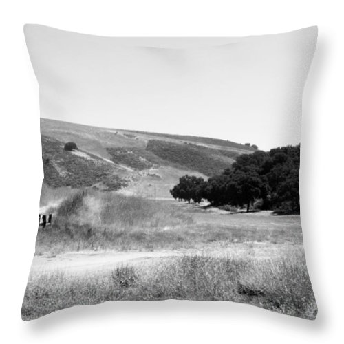 Los Alamos Throw Pillow featuring the photograph Open Country by Kathleen Grace