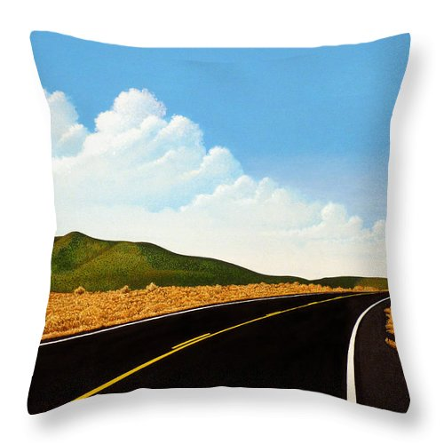 Road Throw Pillow featuring the painting Open Road by Norm Holmberg