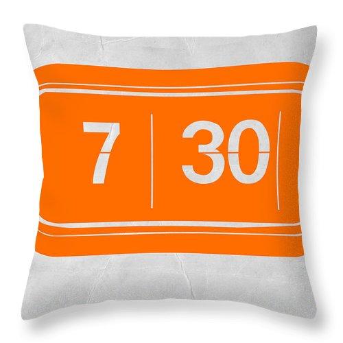 Throw Pillow featuring the photograph Orange Alarm by Naxart Studio