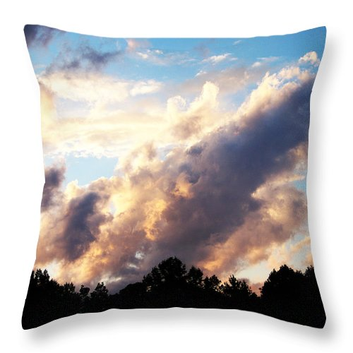 Clouds Throw Pillow featuring the photograph Orange Clouds by Martha Abell