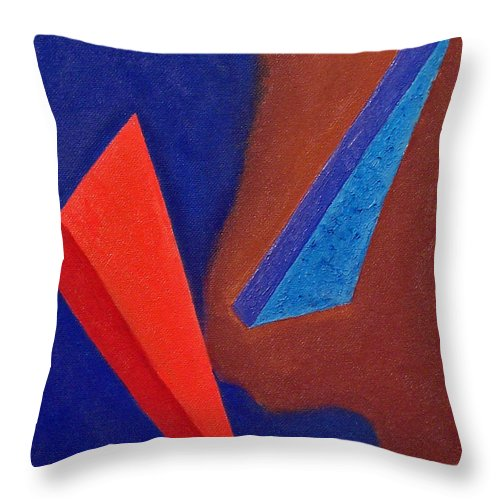 Abstract Expressionism Throw Pillow featuring the painting Orbit by John Neumann