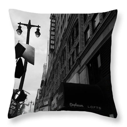Orpheum Theater Throw Pillow featuring the photograph Orpheum Theater by Nina Prommer